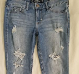 Hollister Low-rise Super Skinny Crop Jean's sz 1s